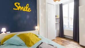 3 chambres, literie de qualité supérieure, ameublement personnalisé