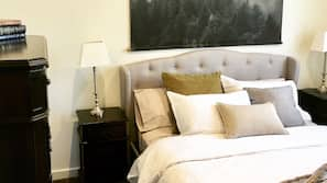 Premium bedding, individually decorated, individually furnished
