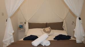 Memory foam beds, iron/ironing board, free WiFi, linens