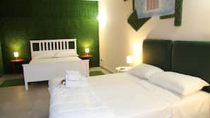 Down comforters, iron/ironing board, free WiFi, bed sheets