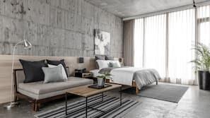 設計每間自成一格、家具佈置各有特色、窗簾、免費 Wi-Fi