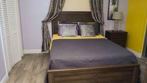 Roupas de cama antialérgicas, cofres nos quartos