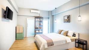 高級寢具、羽絨被、特厚豪華床墊、設計每間自成一格