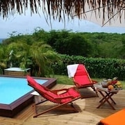 Tipayoune Bungalow in Sainte-anne With Pool and spa 30 m From the Beach