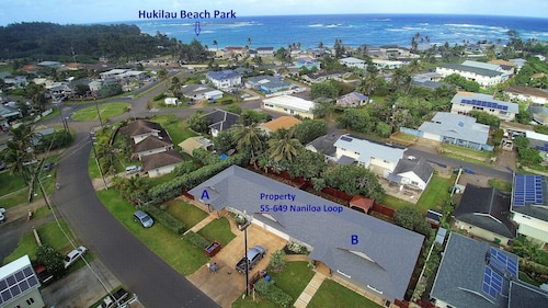 Brand New 4 Bedroom, With A/c, Steps To Hukilau Beach, 30 Day