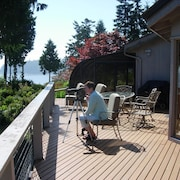 Port Ludlow, Highbank Waterfront Home With Magnificent Mountain and Water Views