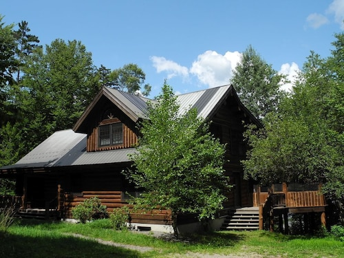 Spectacular Log Cabin - Private, Sandy Beach & Waterfront Fun on Piseco Lake