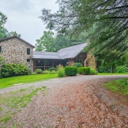 Old Meets new in This Unique Cabin/timber Frame Home! 20+ Acres Bordering State Forest!