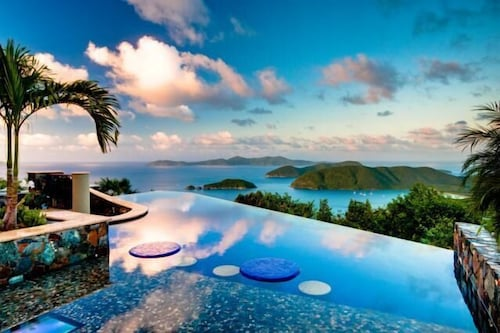 Best Views & Pool Deck on St John Just up the Hill From Cinnamon Bay Beach