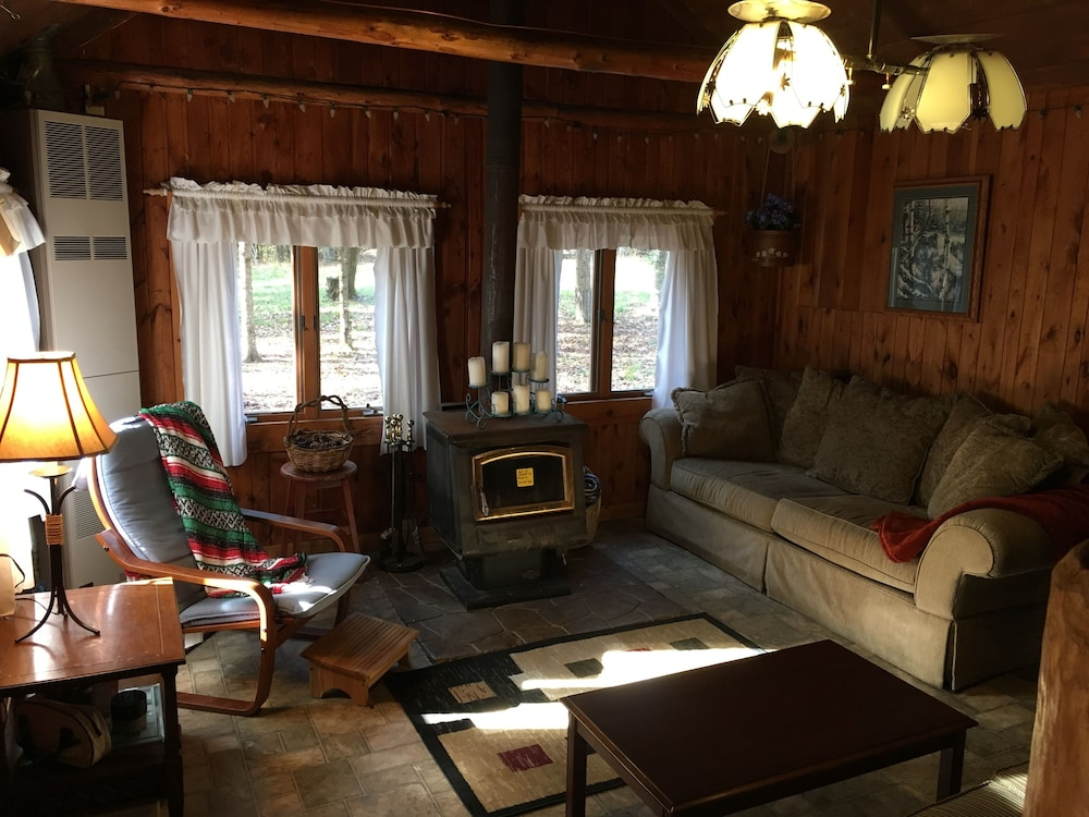 Living Room, Rustic Up North Cabin Minutes From The Au Sable River