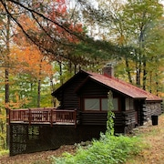 Charming Traditional Log Cabin In Between Mt. Snow And Stratton With Sauna/wifi