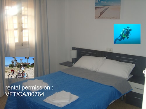 Double Bed Room With Rooms Bike And Dive