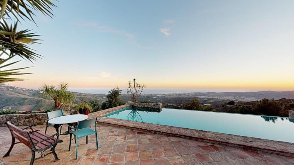 Balcony, Luxurious finca with private infinity pool, 180° views on the Mediterranean
