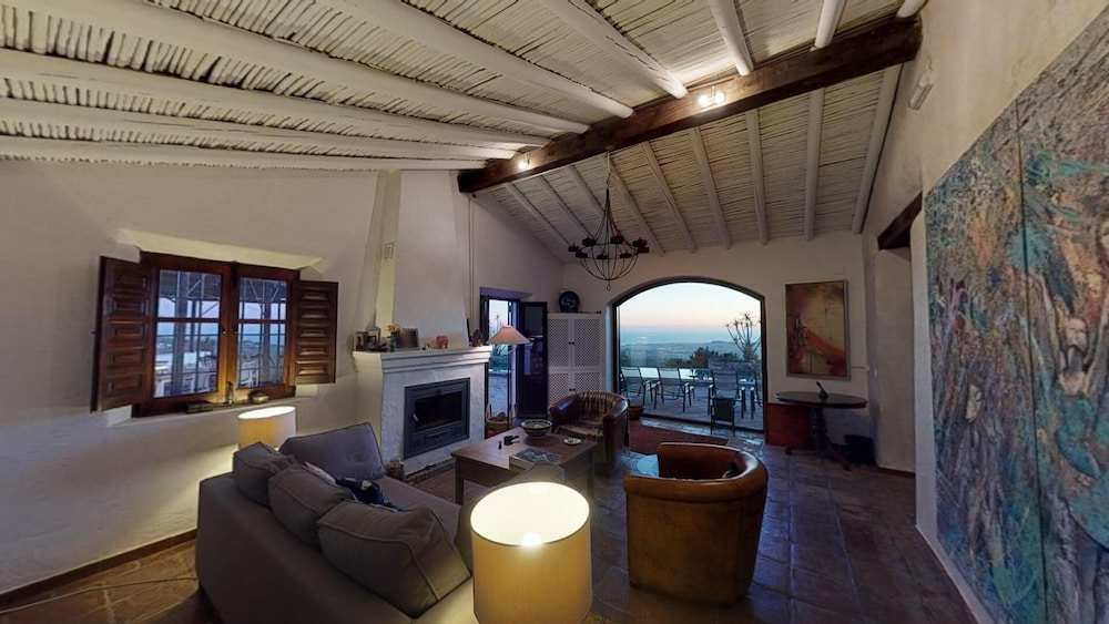 Living Room, Luxurious finca with private infinity pool, 180° views on the Mediterranean