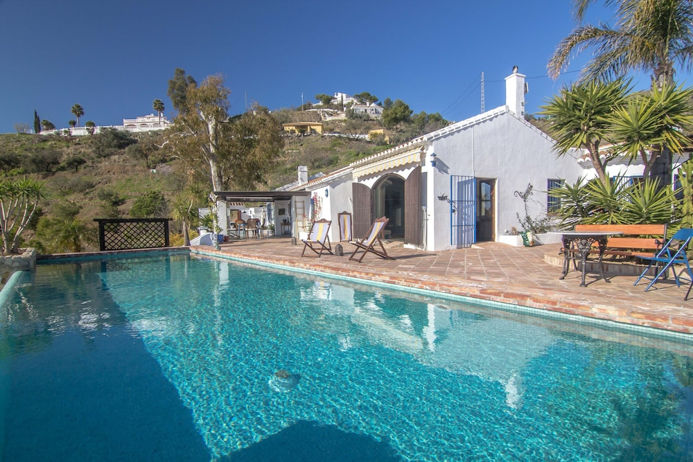 Pool, Luxurious finca with private infinity pool, 180° views on the Mediterranean