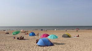 Vlak bij het strand