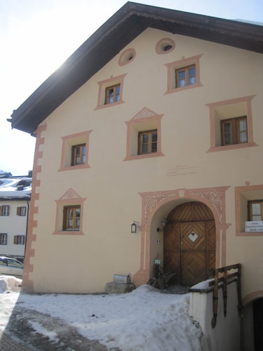 Oldest Engadine Farmhouse Located in the Middle of the Mountain Village of Sent