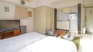 1 間臥室、窗簾、熨斗/熨衫板、免費 Wi-Fi