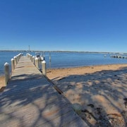 Tranquil, Beachfront Getaway With Dock, Fabulous Sunset Views!
