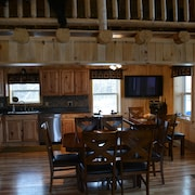 Country Style Log Cabin Retreat With All Of The Amenities