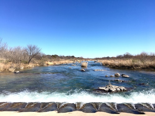 Llano River Front With Huge Covered Patio in the Texas Hill Country