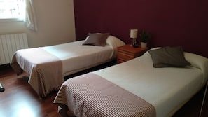 1 bedroom, blackout curtains, free cots/infant beds, free WiFi