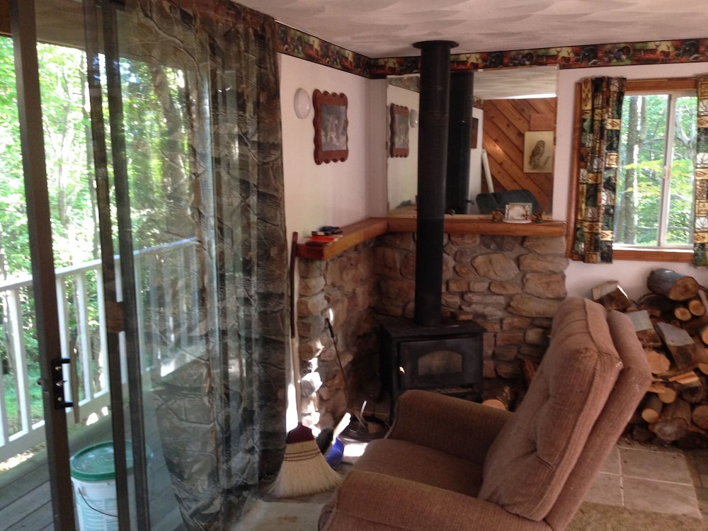 Living Room, Woodys Treehouse Hideaway In French Creek,w.va Reviews on Airbnb