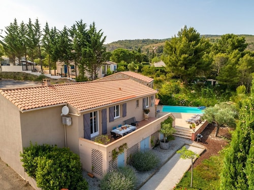 Entire Villa With Private Swimming Pool and Stunning View Over the Town of Caunes