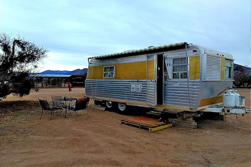 Vintage Trailer in the Mojave Desert Near Las Vegas /the Jackrabbit
