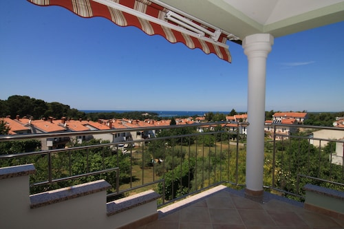 Exclusive Apartment Beethoven Overlooking the Adriatic Sea and Porec in top Location of Porec