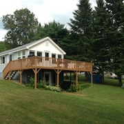 Portage Lake ME. Waterfront Home For Rent In Recreational Mecca