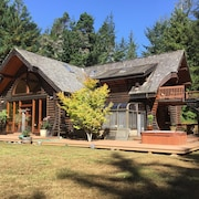 Redwood Log Cabin
