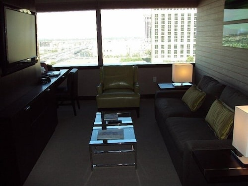 Living Room, Vdara Hotel -junior Luxury Suite on the Strip - Free Parking & No Resort Fees