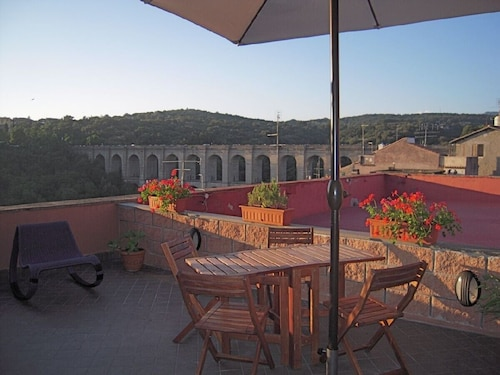 Penthouse in the center of Ariccia, near Rome with panoramic terrace