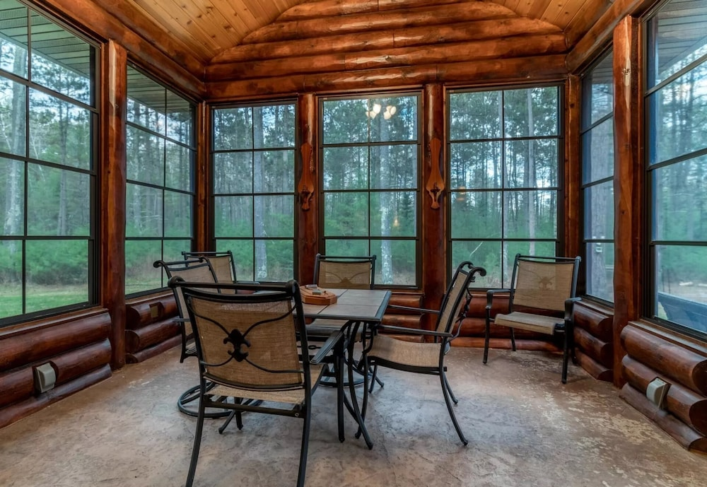 , Northwood's Custom Log & Stone Masterpiece on Over 6 Secluded Acres