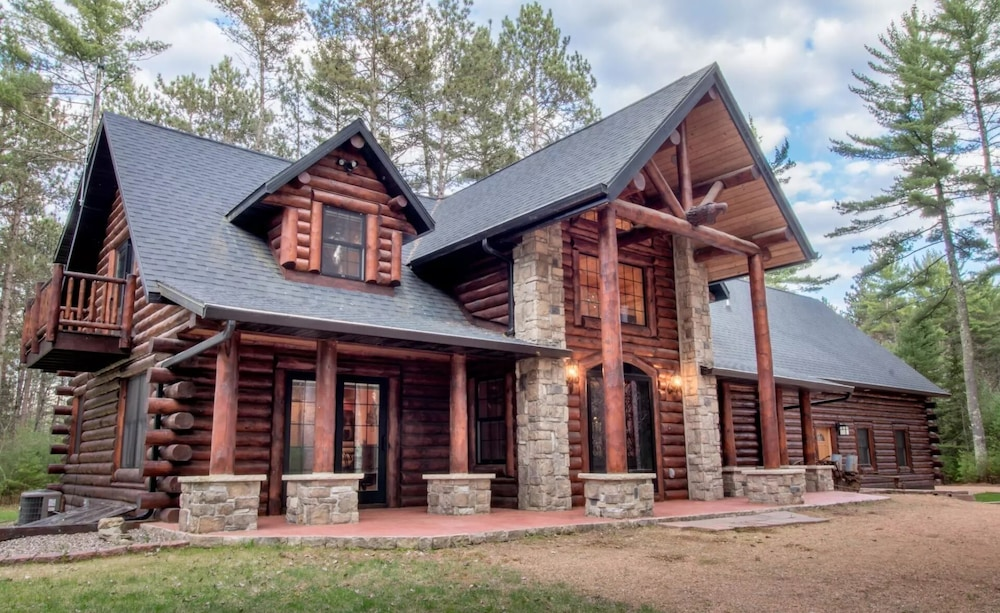 Featured Image, Northwood's Custom Log & Stone Masterpiece on Over 6 Secluded Acres