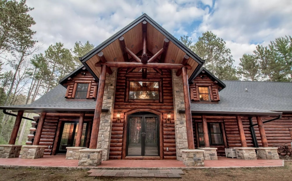 Exterior, Northwood's Custom Log & Stone Masterpiece on Over 6 Secluded Acres