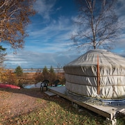 Experience a Mongolian or Cedar Yurt at Cabot Shores - We are on the Cabot Trail