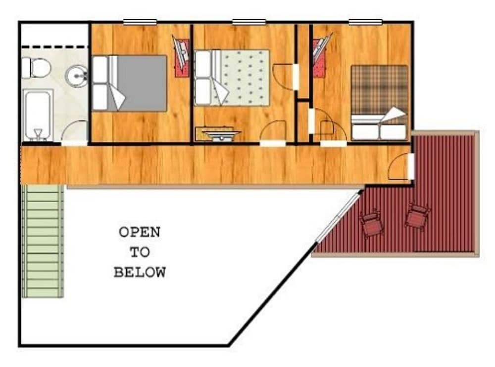 Floor plan, Mount Beautiful - 4 Br Cabin