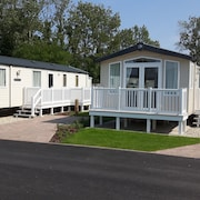 Swift Prestige 'with Decking' Mobile Home On A 5 Haven Holiday Park in Poole