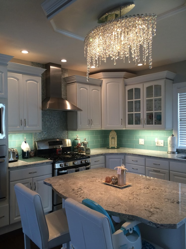 Private Kitchen, Stunning 2,445 Sq. Ft. 2 Story Beach Estate W/ Private Beach!