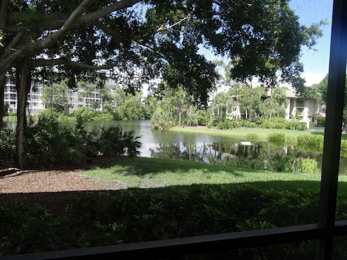 Lake Frontage! Ground Floor - Bldg E Bonita Bay