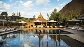 2 outdoor pools, open 8:00 AM to 11:00 PM, pool umbrellas, sun loungers