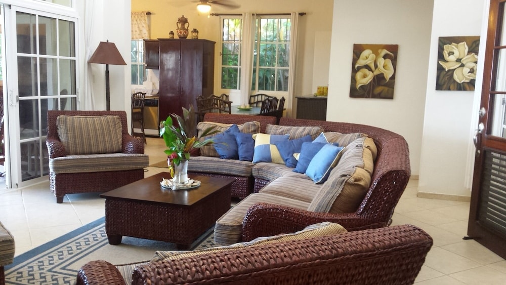 Living Room, Exclusive Oceanfront Villa, Private Beach, Near Puerto Plata