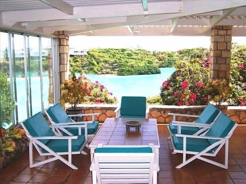 Balcony, Antigua Oceanfront Retreat