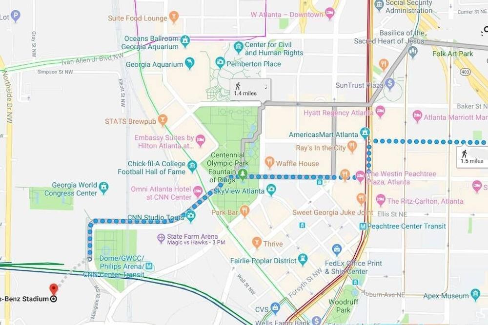 Americasmart Atlanta Map.Of Atlanta Merc Benz Gwcc 1 Mile 2019 Room Prices Deals