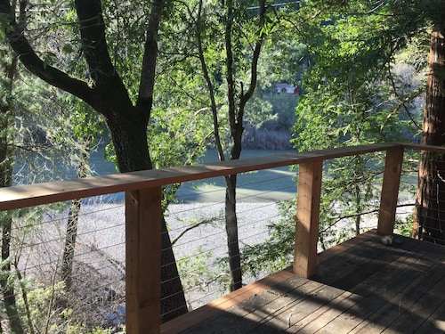 Updated Cabin, Right on Russian River, Amazing Views & Location!