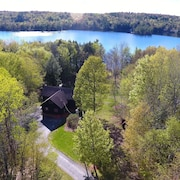 Beautiful 5 Acres Lakefront Property With Private Beach and Sauna