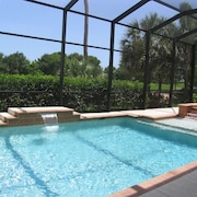Golf Front, Pool Table, Outdoor Kitchen, 8 Bikes, Tennis, Spa, Salt H2O Pool Gym