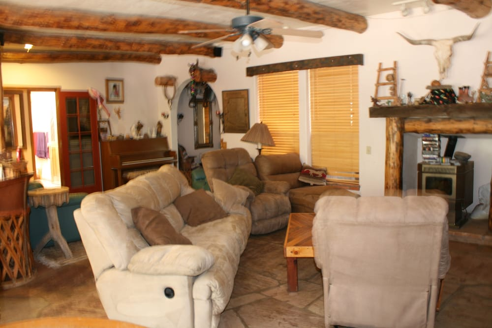 Living Room, Cozy Retreat With a Backyard Paradise and Tons of Amenities